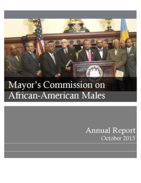Mayor's Commission on African-American Males: Annual Report, October 2015