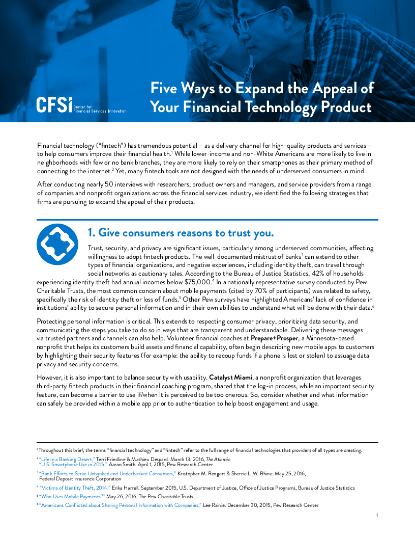 Five Ways to Expand the Appeal of Your Fintech Product