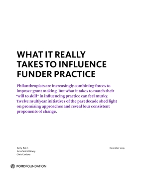 What It Really Takes to Influence Funder Practice