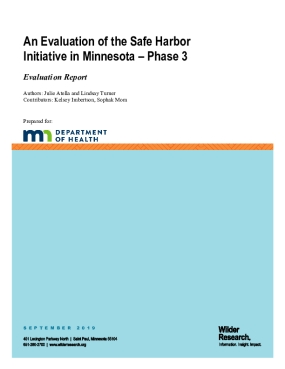 An Evaluation of the Safe Harbor Initiative in Minnesota - Phase 3: Evaluation Report